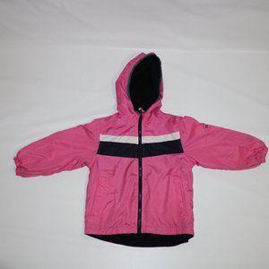 🌈OSHKOSH Girl Fully lined Rain Coat Jacket Pink